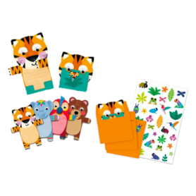 Cartes Invitation Animaux sauvages Djeco